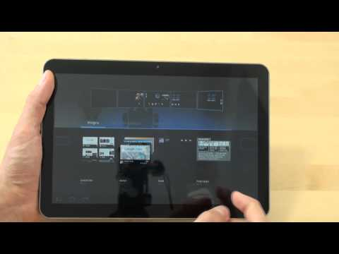 Samsung P7100 Galaxy Tab 10.1v Test Bedienung