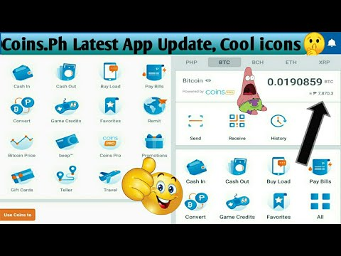 Coins.ph Latest Update 2019, Cool Icons And User Interface Plus Btc Price Update, No Edit