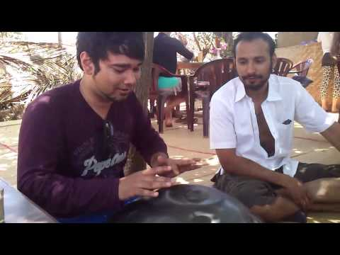 World's Best Instrument Hang Drum with indian style by Jayant