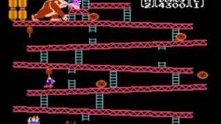Donkey Kong NES gameplay