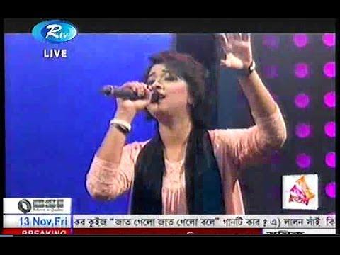 Fatima Tuz Zahra Oyshee-De De pal Tule de - Live on RTV MUSIC STATION