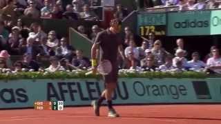 Roger Federer vs Novak Djokovic     French Open 2012 SemiFinals Highlights HD