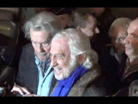 Jean Paul Belmondo et Alain Delon le 17 novembre 2017 à l'inauguration de la Grande Roue de Paris