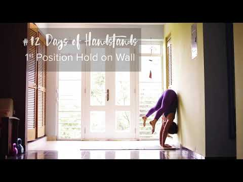 1st Position Hold on Wall | YogaSlackers 12 Days of Handstands