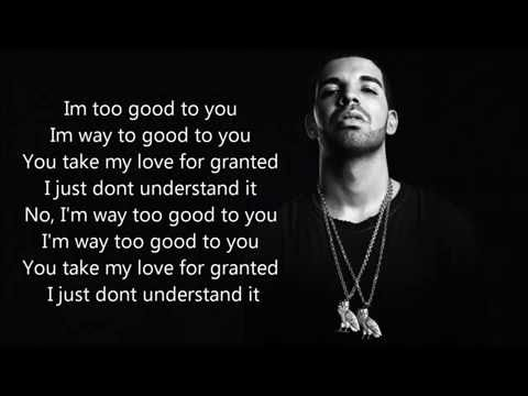 Drake Ft Rihanna Too good lyric Video