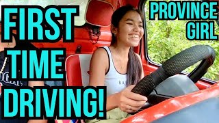 Province Girl First Time Driving a CAR | How to Drive MANUAL CAR in the Philippines