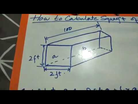 how to calculate square foot of a duct youtube. Black Bedroom Furniture Sets. Home Design Ideas