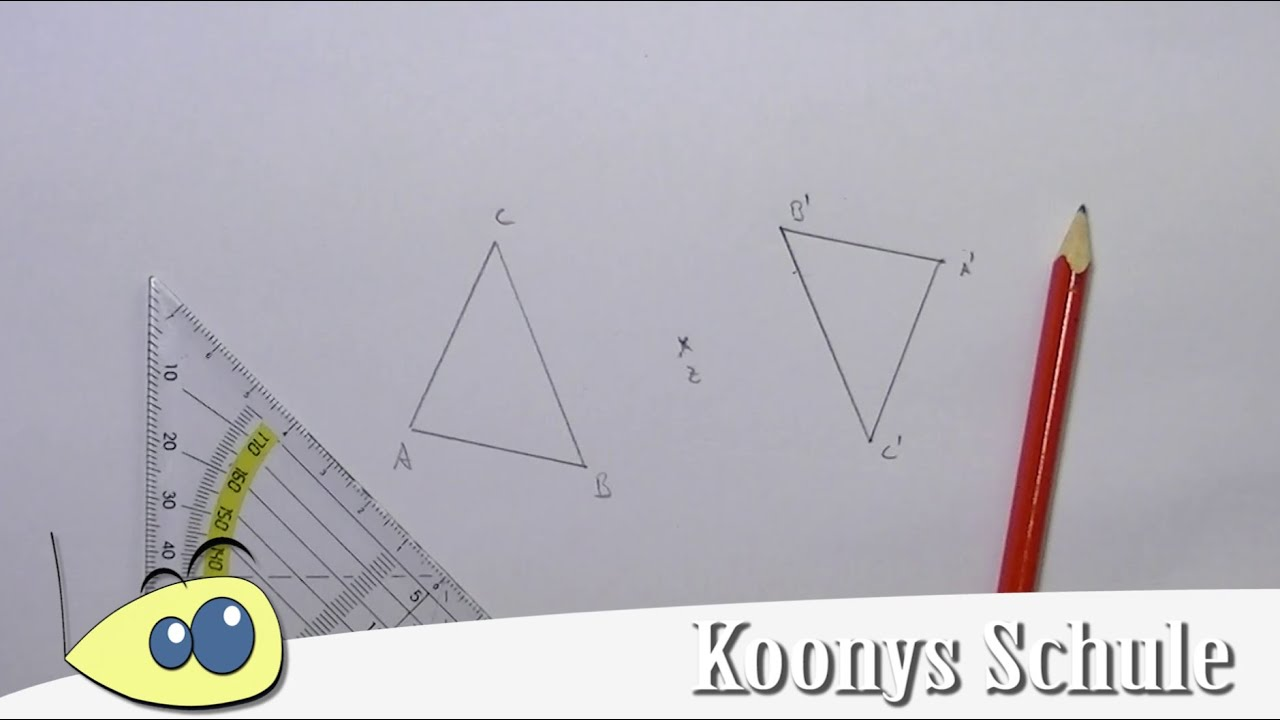 Punktspiegelung dreieck beispiel mit erkl rung for Stabiles dreieck grundschule