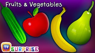 Surprise Eggs Toys Learn Fruits & Vegetables for Kids | ChuChuTV Egg Surprise for Children