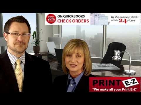 Business Checks, Computer Checks, QuickBooks Checks, Quicken Checks, | Print EZ NY