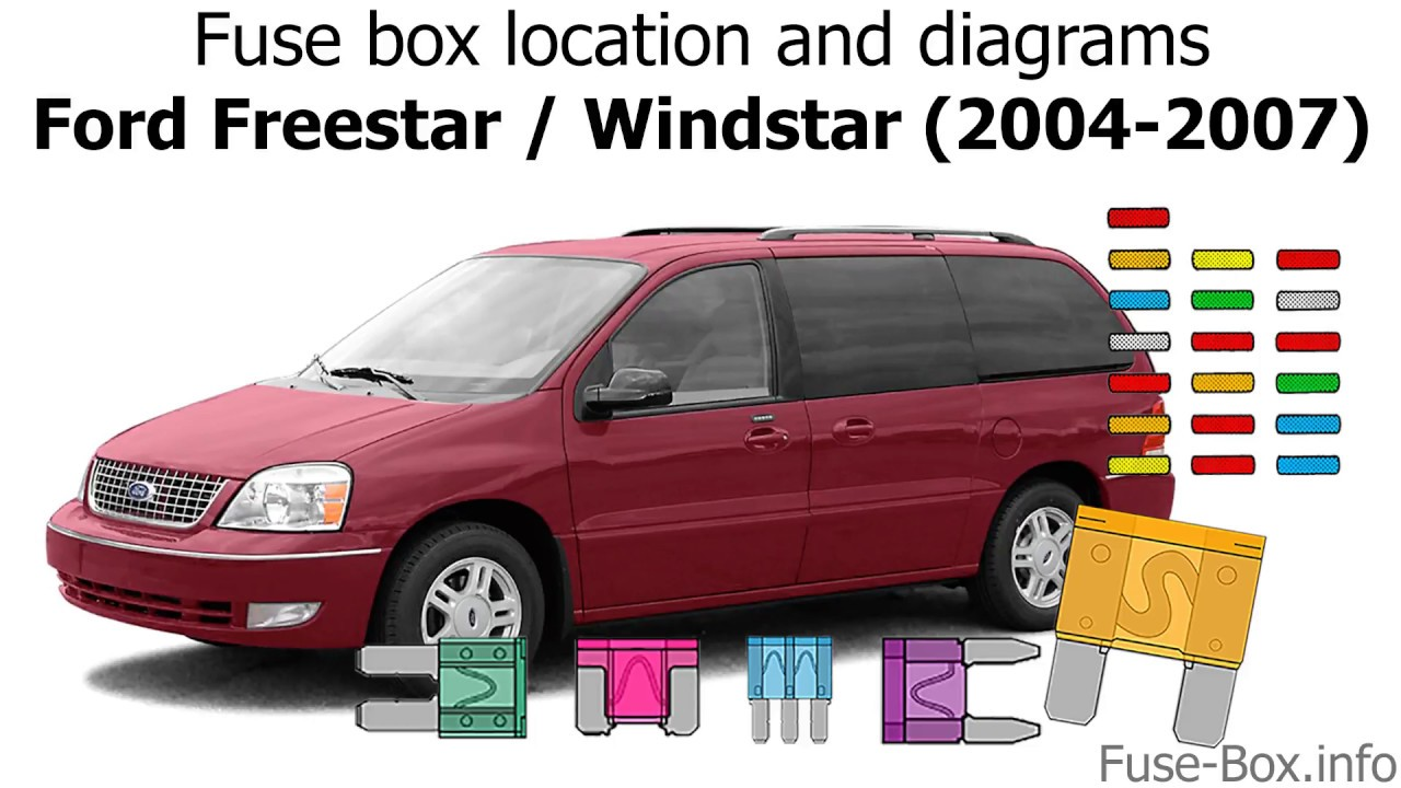 fuse box location and diagrams ford freestar 2004 2007  [ 1280 x 720 Pixel ]