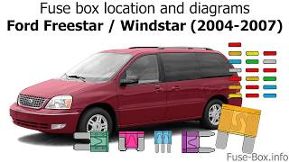 Fuse box location and diagrams: Ford Freestar (2004-2007) - YouTubeYouTube
