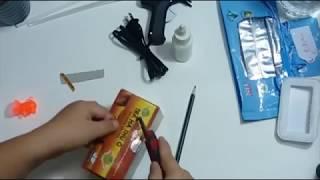 Tái chế nắp hộp khăn giấy đơn giản - Creative challenge