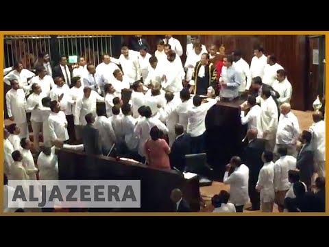 🇱🇰Chaos in Sri Lanka parliament as MPs exchange blows l Al Jazeera English