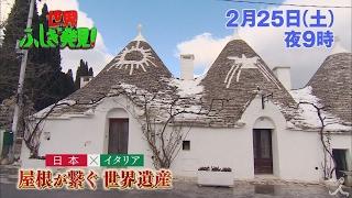 土曜よる9時 『世界ふしぎ発見!』 2月25日放送予告。 屋根の形が特徴的...