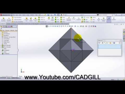 Truncated Cube Video Tutorial SolidWorks