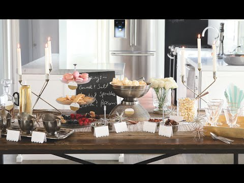 This holiday season, set up an ice cream bar for guests to create their own culinary masterpieces.