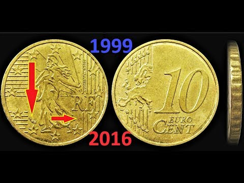 10 Cent 1999 - 2016 France Signs On Coins