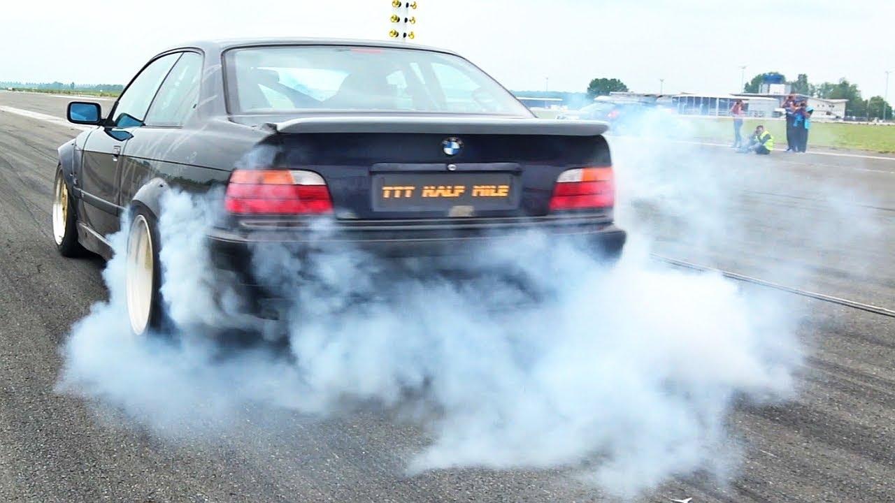 BMW 325i E36 Turbo Acceleration Sound Burnout