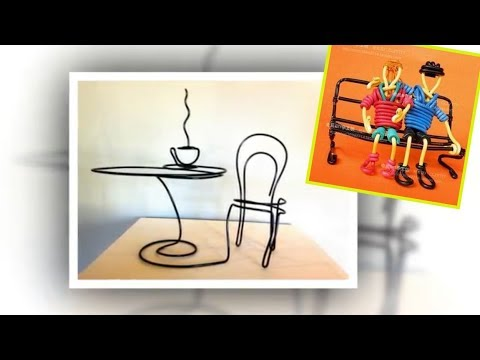 25 Amazing DIY Wire Art Ideas. Crafts to Make and Sell