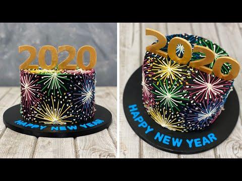 New Years Cake 2020 | Gâteau Du Nouvel An 2020 | Pastel De Año Nuevo | 새해 케이크 2020 | เค้กปีใหม่ 2020