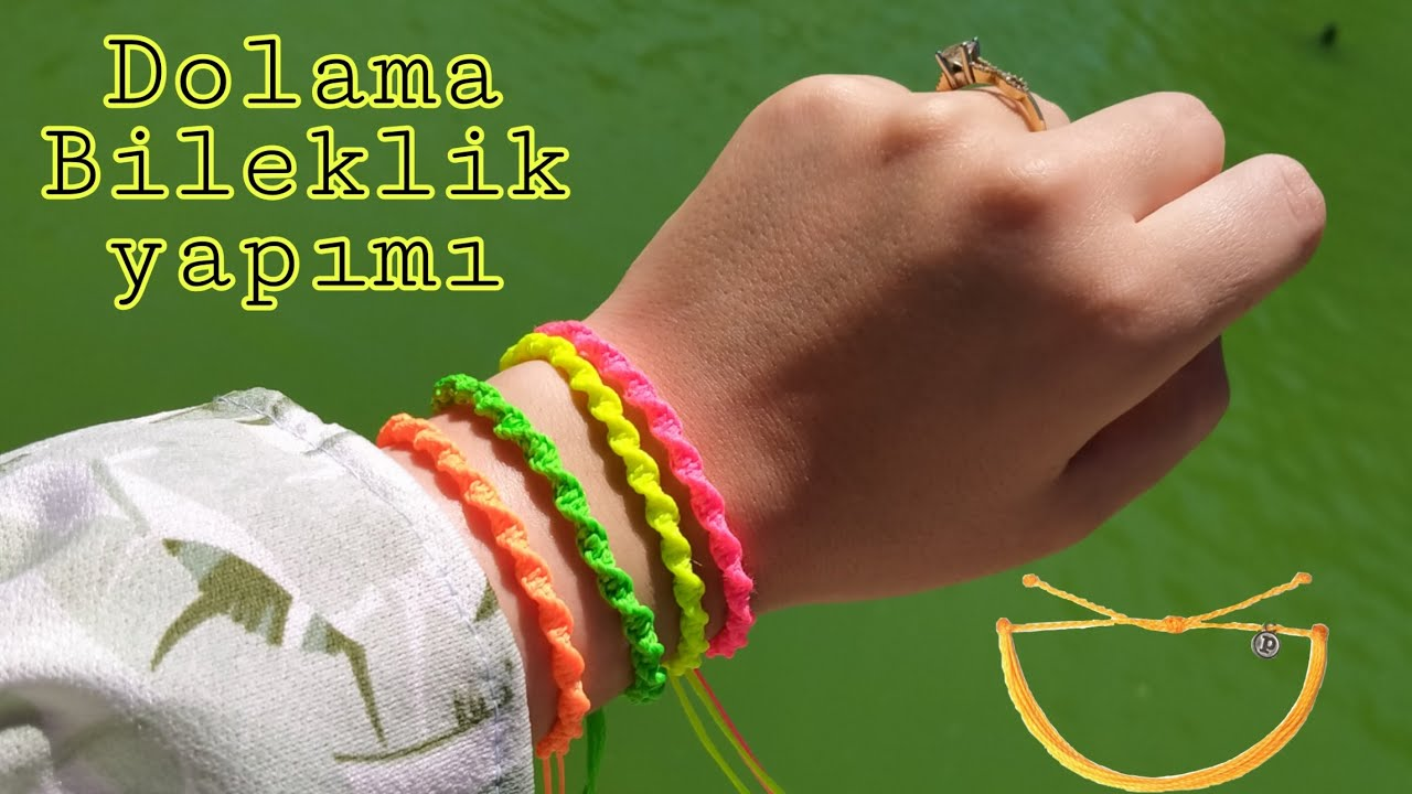İpten bileklik yapımı 2 / kolay arkadaşlık bilekliği yapımı / Friendship bracelets diy