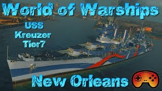 Die neue Tier 7 New Orleans Preview in World of Warships Deutsch German US Kreuzer Gameplay