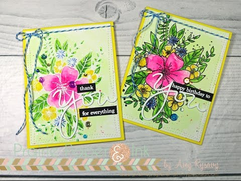 C9 Hello Lovely 2 Ways w Mission Gold Watercolor