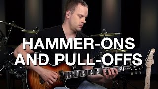 Legato Hammer-Ons and Pull-Offs - Lead Guitar Lesson #8