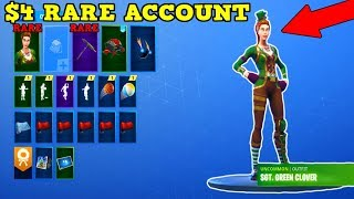 GIVING AWAY RARE SGT GREEN CLOVER ACCOUNT! Fortnite Stacked Account Showcase! | Account Giveaway!