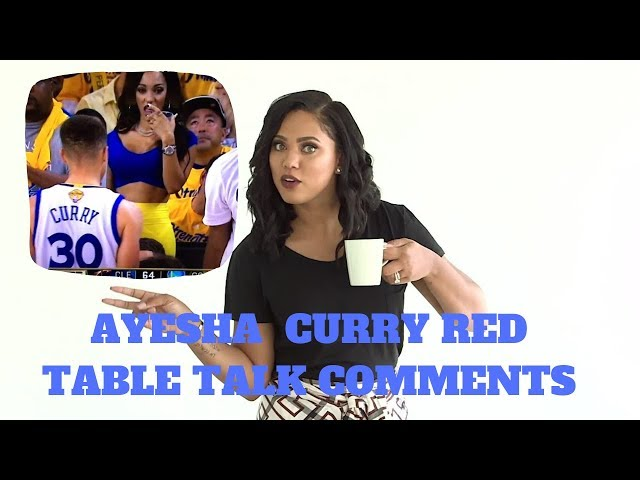 AYESHA CURRY HAS BEEN DRAGGED FOR RED TABLE TALK ..
