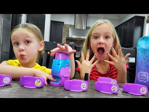 Trinity and Madison Nail Salon Manicures with Go Glam Cool Maker!