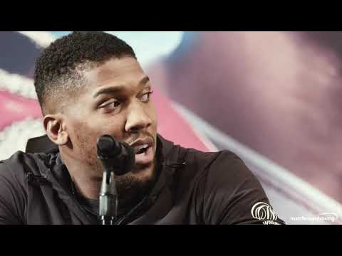 Anthony Joshua and Jarrell Miller rip into each other at NYC presser!
