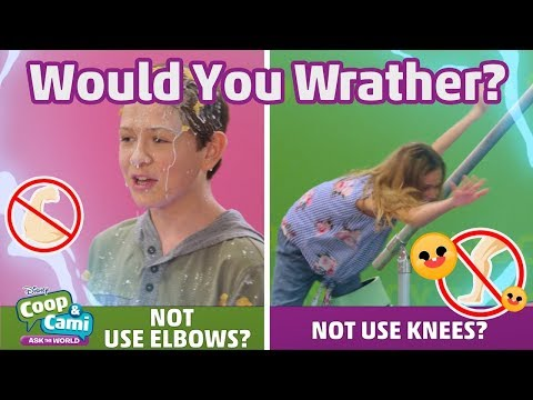 Not Use Knees or Not Use Elbows? | Coop & Cami Ask the World | Disney Channel