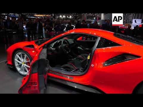 Luxury cars at the Geneva Motor Show
