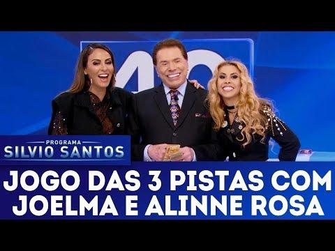 Jogo das 3 Pistas com Joelma e Alinne Rosa | Programa Silvio Santos (14/01/18)