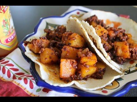 Cooking Chorizo Con Papa Tacos