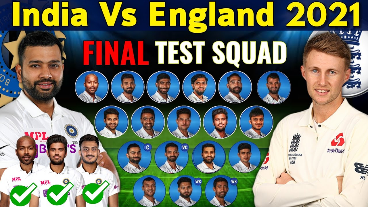 India Vs England Test Series 2021 | Team India Final Test Squad Vs England 2021 | Ind Vs Eng 2021