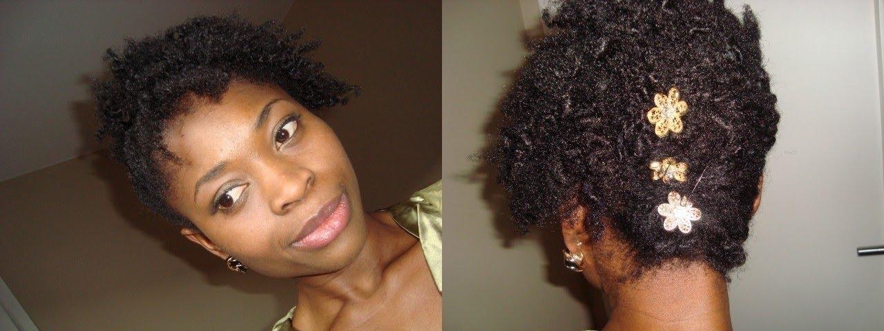 Très ☆ Tuto coiffure: Up-do sur cheveux crépus courts ☆ - YouTube DJ58