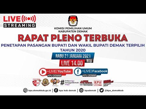 [LIVE] RAPAT PLENO TERBUKA PENETAPAN PASANGAN BUPATI DAN WAKIL BUPATI DEMAK TERPILIH TAHUN 2020