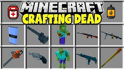 Minecraft CRAFTING DEAD MOD | FIGHT ZOMBIES AND TRY TO SURVIVE THE APOCALYPSE!!