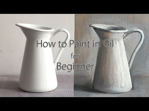 Full Step by Step Oil Painting Tutorial for Beginner, How to