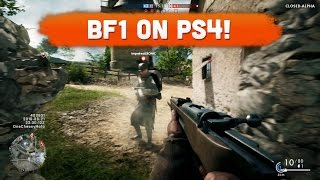 playing bf1 on ps4 battlefield 1 alpha gameplay