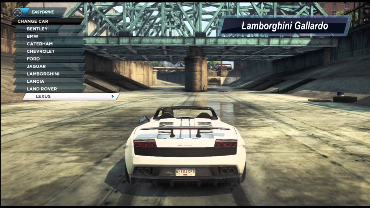 Top 5 Cars In Need For Speed Most Wanted Nfs001 Youtube