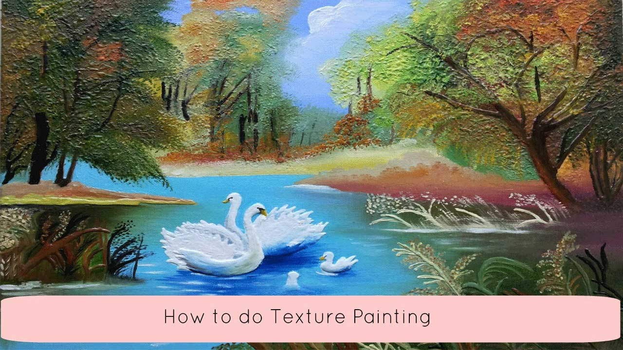 How to do Texture Painting Canvas Painting Craftziners 4 YouTube
