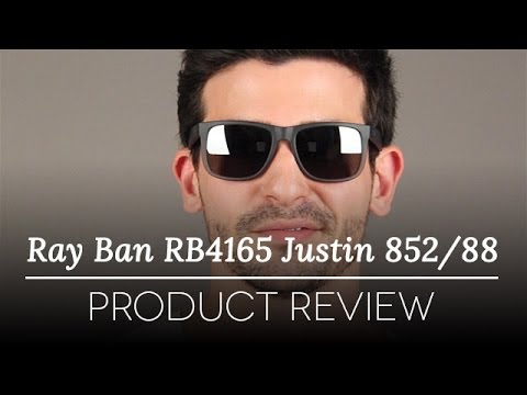ray ban justin polarized  Ray-Ban RB4165 Justin 852/88 Sunglasses Review - YouTube