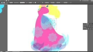 Peach speed art on illustrator (dress rework)