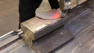 2.   Limited tools challenge  Forging a Rude skinning knife Long