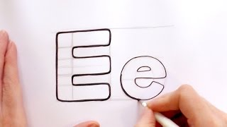 How to Draw a Cartoon Letter E and e