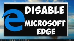 How To Disable and Re-enable Microsoft Edge in Windows 10